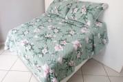 Cobre Leito 2,20X2,50m - Floral Verde