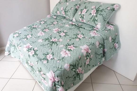 Cobre Leito 1,60X2,20m - Floral Verde