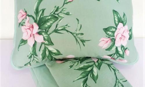Jogo Lençol Malha Queen - Verde Floral