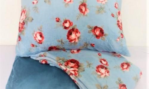 Jogo de lençol plush - Queen Florzinha