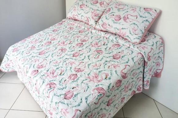 Cobre Leito 2,20X2,50m - Flamingo