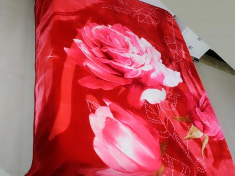 Coberdon Tradicional Floral Vermelho_1
